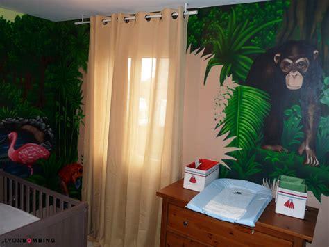 thème décoration chambre bébé chambre jungle chambre lyonbombing