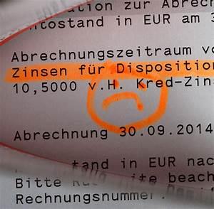 Dispo Zinsen Berechnen : vergleich von girokonto geb hren soll leichter werden welt ~ Themetempest.com Abrechnung