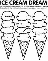 Coloring Crayola Ice Cream Pages Print sketch template