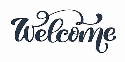 Welcome Vector Text Hand Script Lettering Graphics