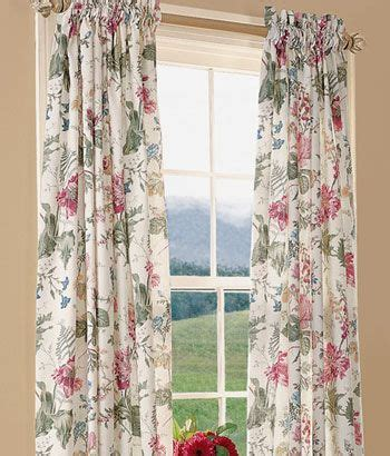 cottage garden lined rod pocket curtains cortinas e