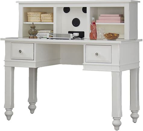 white desk with hutch lake house white writing desk with hutch from ne