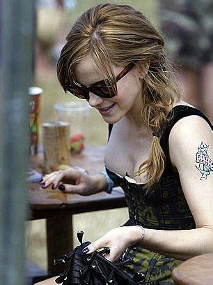 Oscars Emma Watson Debuts Huge New Time Tattoo