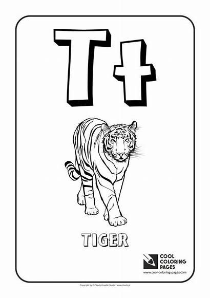 Coloring Letter Alphabet Pages Cool Educational