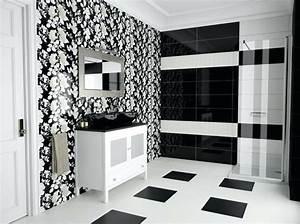 Salle De Bain Carrelage Noir : salle de bain faience noir et blanc ~ Dailycaller-alerts.com Idées de Décoration
