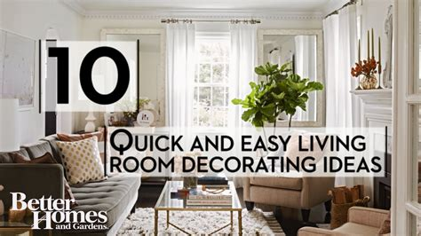 quick  easy living room decorating ideas youtube