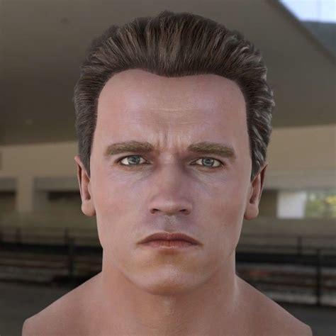 3D model Arnold Schwarzenegger head   3D model   Arnold ...