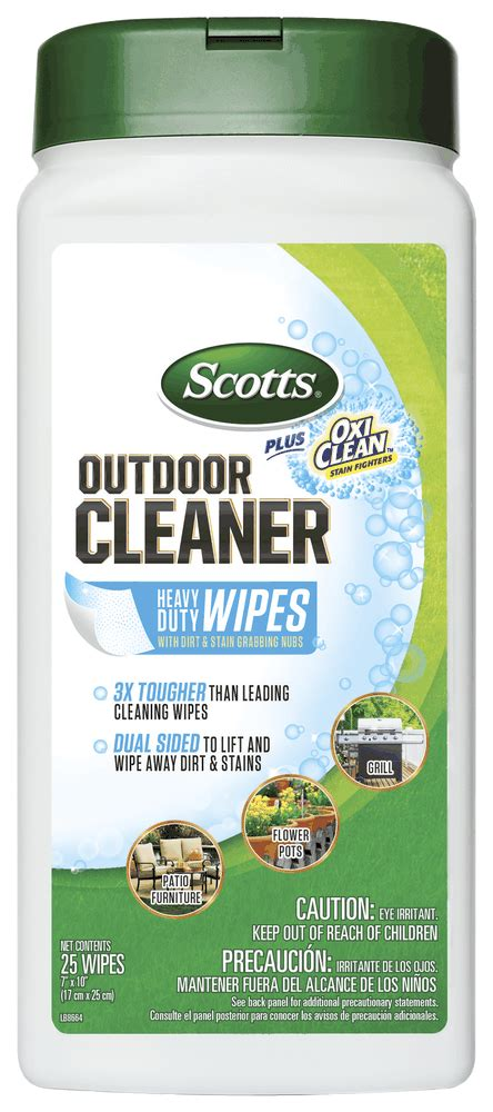 Outdoor Cleaner Plus Oxiclean Heavy Duty Wipes Scotts