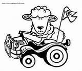 Coloring Pages Sheep Animal Pastor Farm Appreciation Printable Sheets Animals Sheet sketch template