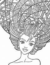 Coloring Crazy Lesson Hairdo Printables Outline Drawing sketch template