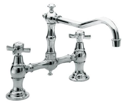 BrassTech Kitchen Chrome Faucet, Chrome Kitchen BrassTech