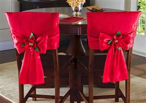 Red Parson Chairs by 15 Ideias De Enfeites Natalinos Para Cadeiras Artesanato