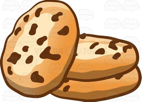 Yummy Chocolate Chip Cookies #cartoon #clipart #vector