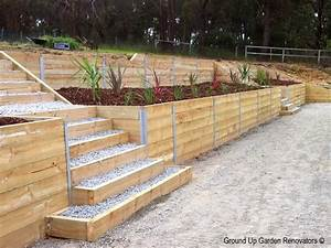 Retaining walls timber retaining wall ask home design for Timber retaining wall design