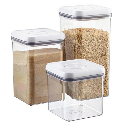 kitchen storage canister oxo grips 6 quot square pop canisters the container store