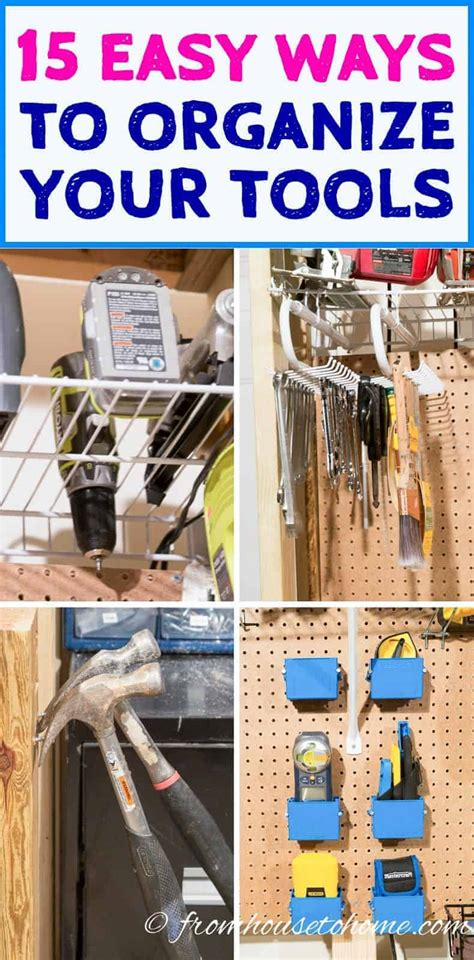 clever ways  organize tools    find