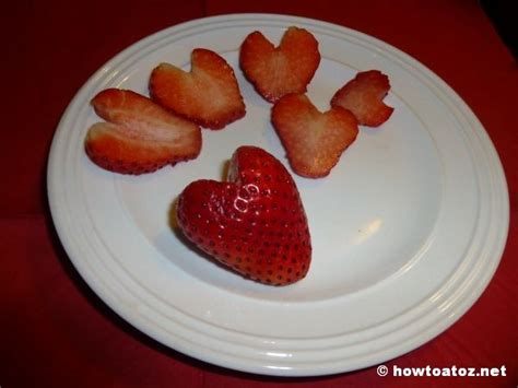 slicing strawberries for decoration shaped strawberries how to a to z