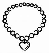 Coloring Heart Jewelry Necklace Valentine Sky Coloringsky Sheet Sketch sketch template