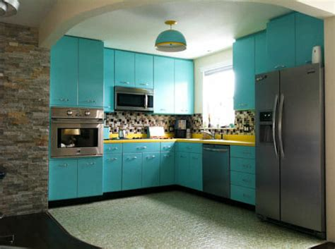 vintage kitchen cabinets recreates the look of vintage metal kitchen cabinets
