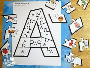 printable alphabet puzzles upper and lowercase letters With puzzle alphabet letters