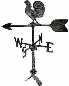 Weathervane Roof Mount Rooster Outdoor Wind Weather