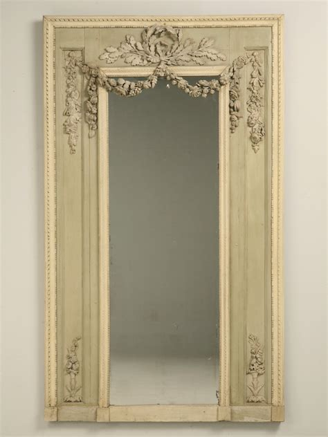 antique french original painted mirror rose  sale