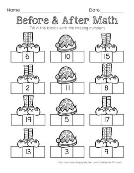 math worksheets    numbers
