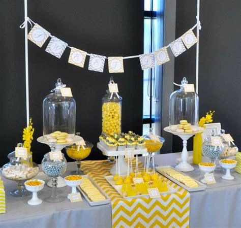 yellow and grey chevron bathroom decor items similar to bridal shower decor package yellow