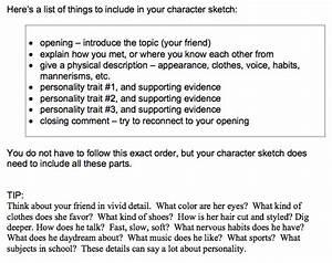 character analysis essay sample