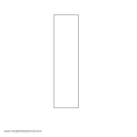 block letter i block letter i free printable block letter stencils 43788