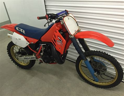 honda motocross bike 1987 cr250r vintage dirt bike motorcycle honda 250 cr 80s