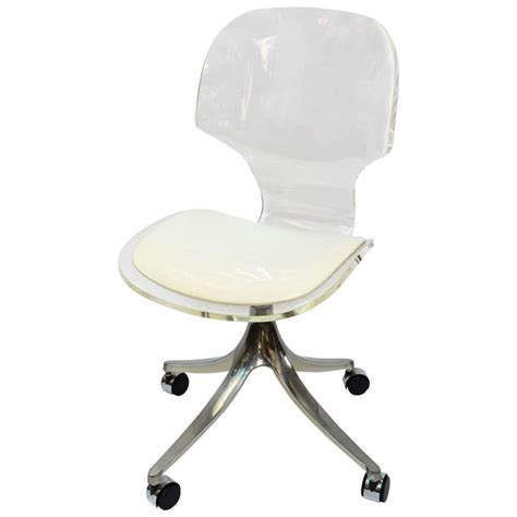 clear plastic desk chair armless swivel chair made of clear acrylic without armrest