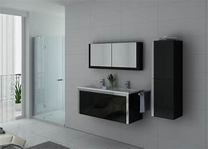 Meuble Avec Vasque : meuble de salle de bain noir ref dis025 1200n meuble de salle de bain noir suspendu ~ Teatrodelosmanantiales.com Idées de Décoration