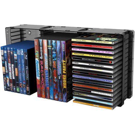 cd rack walmart atlantic disc storage module 45 cds 21 dvds black