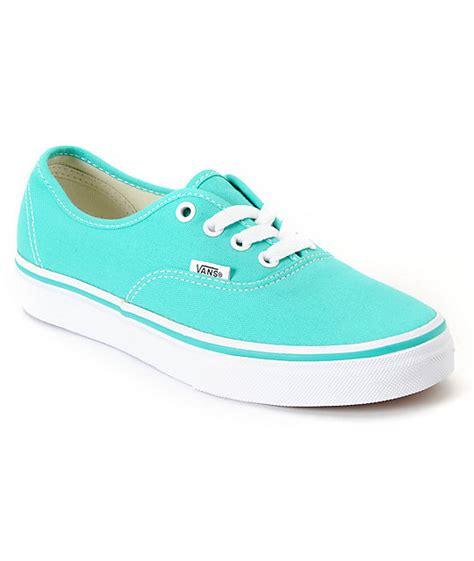 light blue vans vans authentic pool green white shoe at zumiez pdp