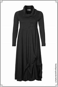 robe hiver manches longues et col roule en jersey fluide With robe longue femme ronde
