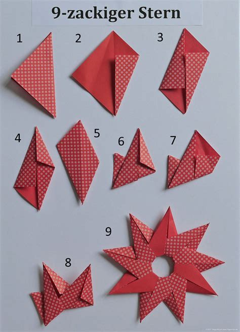 origami sterne falten anleitung
