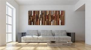 Wandbilder Wall Art : wanddekoration mit holz 32 wandverkleidungen akzente ~ Markanthonyermac.com Haus und Dekorationen