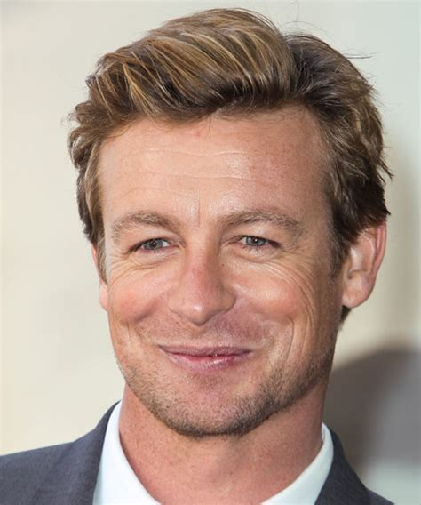 Simon Baker Short Straight Casual Hairstyle   Medium