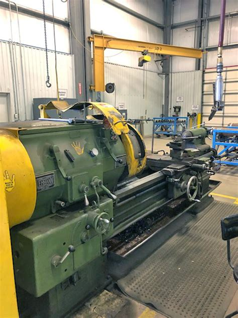 USED, 27″ X 80″ LEHMANN HOLLOW SPINDLE LATHE WITH 9 ...