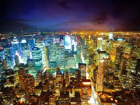 york city  night  wallpaper