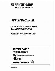 Frigidaire Electronic Control Dishwasher Service Manual