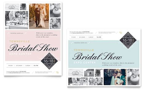 bridal show poster template word publisher