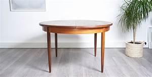 Table Ronde Scandinave Extensible : table manger ronde extensible 1960 style scandinave ~ Melissatoandfro.com Idées de Décoration