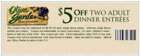 olive garden coupons printable olive garden coupons printable code for restaurant lunch