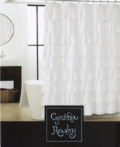 cynthia rowley white chic ruffled tiers fabric shower