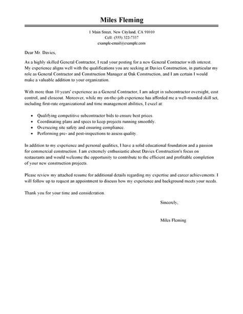 closing register resume best general contractor cover letter exles livecareer