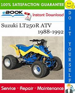 Best  U2606 U2606 Suzuki Lt250r Atv Service Repair Manual 1988