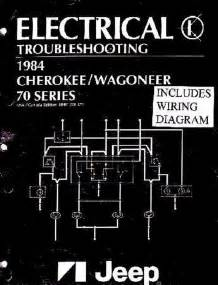 Oem Shop Manual Jeep Cherokee  Wagoneer Evtm W   Wiring