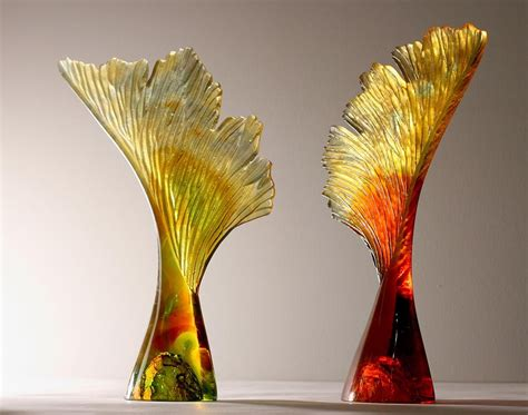 seed  wing  crispian heath glass sculpture sable
